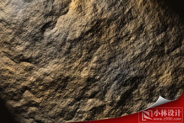 PS滤镜制作逼真的岩石纹理效果_亿码酷站___亿码酷站平面设计教程