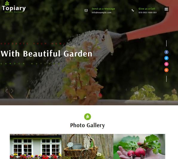 花草绿色植物园艺公司网站模板_html网站模板