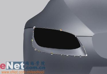 Photoshop鼠绘实例:宝马BMWM3_亿码酷站___亿码酷站平面设计教程插图7