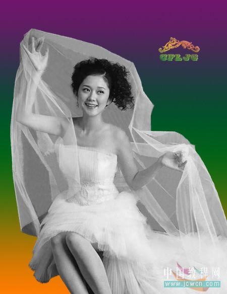Photoshop复杂背景抠婚纱教程_亿码酷站___亿码酷站平面设计教程插图9