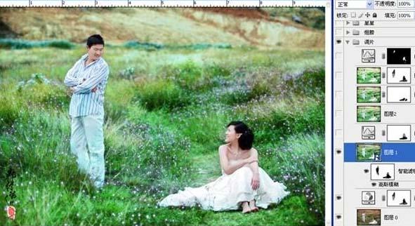 PS打造梦幻的绿色外景婚片_亿码酷站___亿码酷站平面设计教程插图5