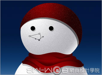 PHOTOSHOP鼠绘漂亮的圣诞雪人_亿码酷站___亿码酷站平面设计教程插图10
