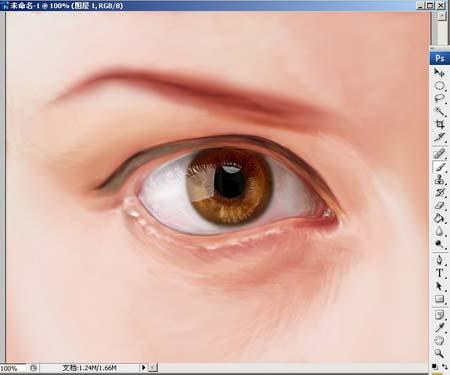 Photoshop精细鼠绘人物眼睛_亿码酷站___亿码酷站平面设计教程插图7
