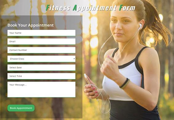 健身预约登记表单小部件模板_亿码酷站网站源码下载