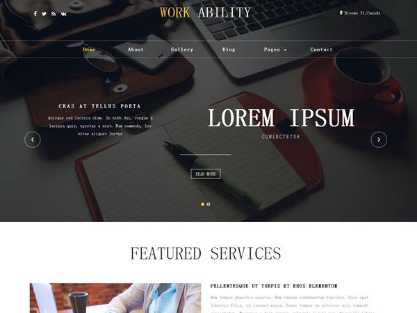 高端线条设计公司网站模板_html网站模板
