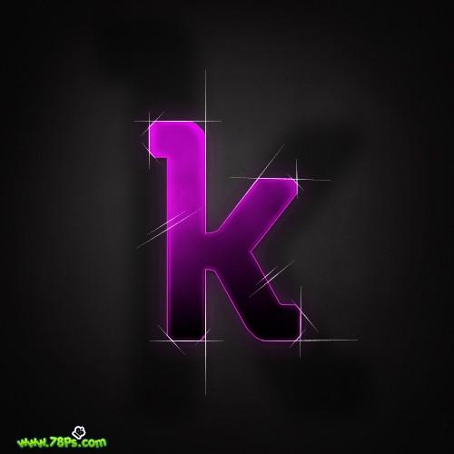 Photoshop制作紫色发光字效果_亿码酷站___亿码酷站平面设计教程