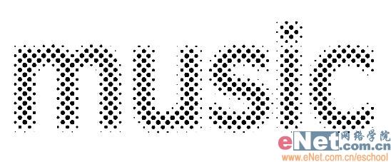 Photoshop制作动感圆点发光文字_亿码酷站___亿码酷站平面设计教程插图4