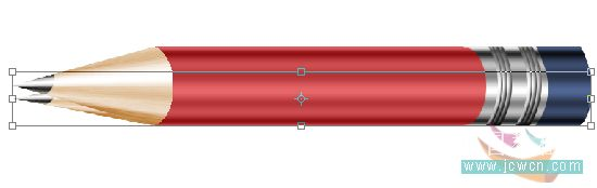 PS绘制一只红色铅笔_亿码酷站___亿码酷站平面设计教程插图25