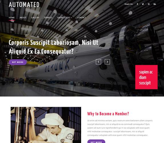 航天航空自动化工业网站模板_wordpress主题