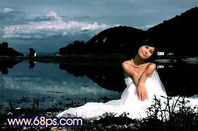 Photoshop快速打造暗调夜景婚片_亿码酷站___亿码酷站平面设计教程插图8