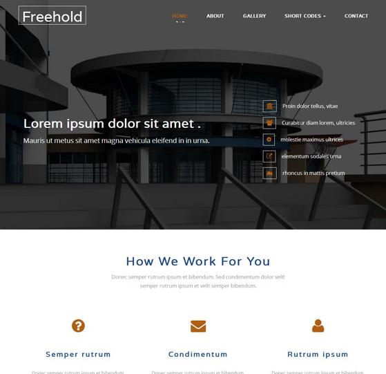 大气施工集团企业网页模板_企业官网模板