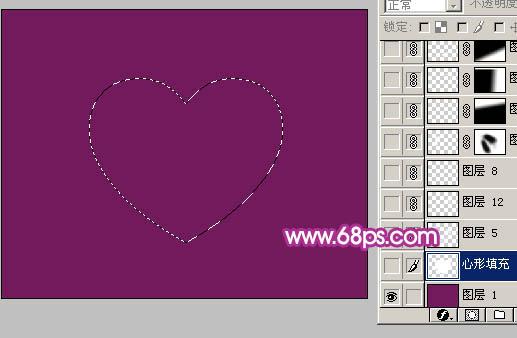 Photoshop制作漂亮的心形泡泡_亿码酷站___亿码酷站平面设计教程插图3