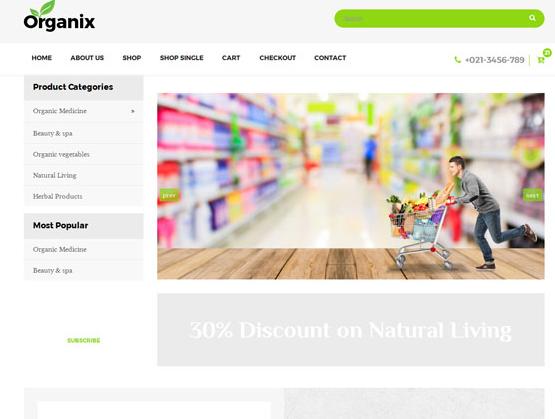 有机的农产品电商HTML5模板_html网站模板