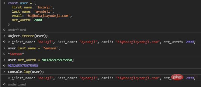 了解JavaScript中Object.freeze()与const之间的区别_编程技术_亿码酷站插图4