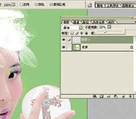Photoshop给美女加上彩妆及头饰_亿码酷站___亿码酷站平面设计教程插图15