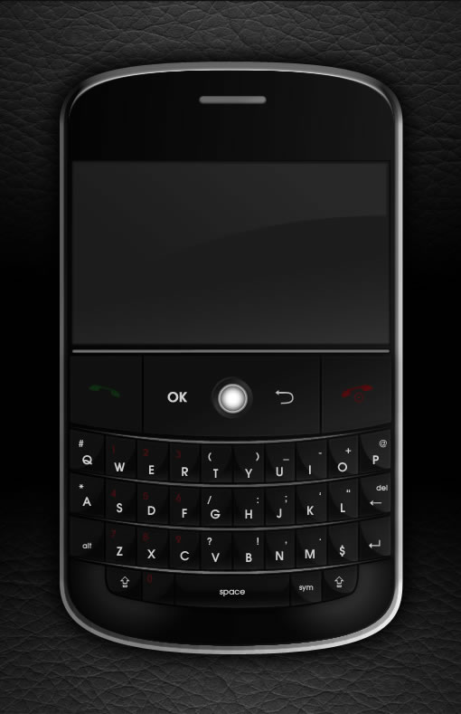 Photoshop绘制逼真的黑莓手机_亿码酷站___亿码酷站平面设计教程插图