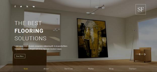 黄色调简洁室内家具网站模板_企业官网模板