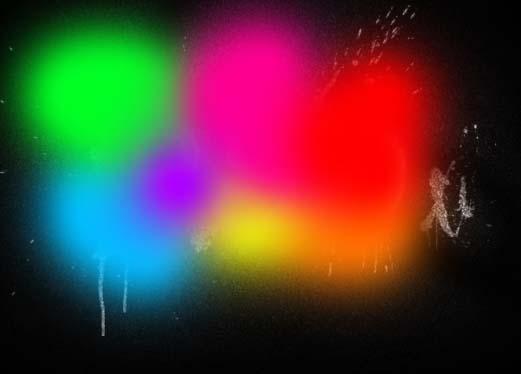 Photoshop制作彩色的涂鸦字效果_亿码酷站___亿码酷站平面设计教程插图13
