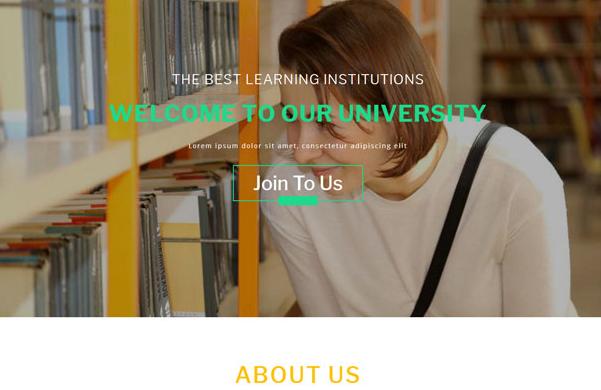 绿色大学图书馆机构网站模板_亿码酷站网站源码下载
