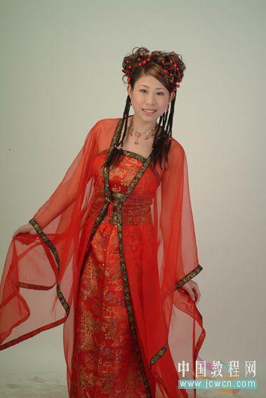 Photoshop教程:红色婚纱抠图技巧_亿码酷站___亿码酷站平面设计教程