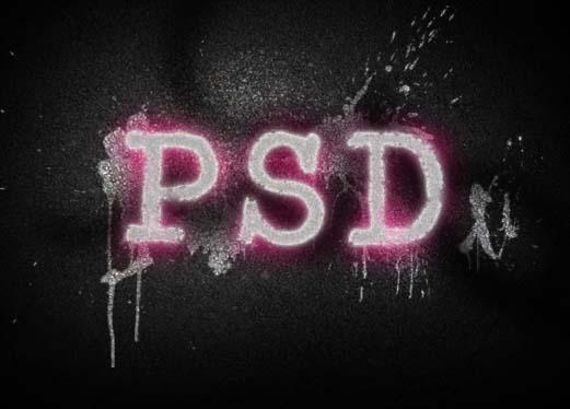 Photoshop制作彩色的涂鸦字效果_亿码酷站___亿码酷站平面设计教程插图12