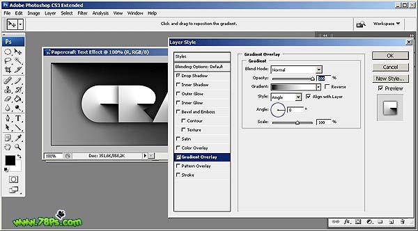 Photoshop制作剪纸字效果_亿码酷站___亿码酷站平面设计教程插图16