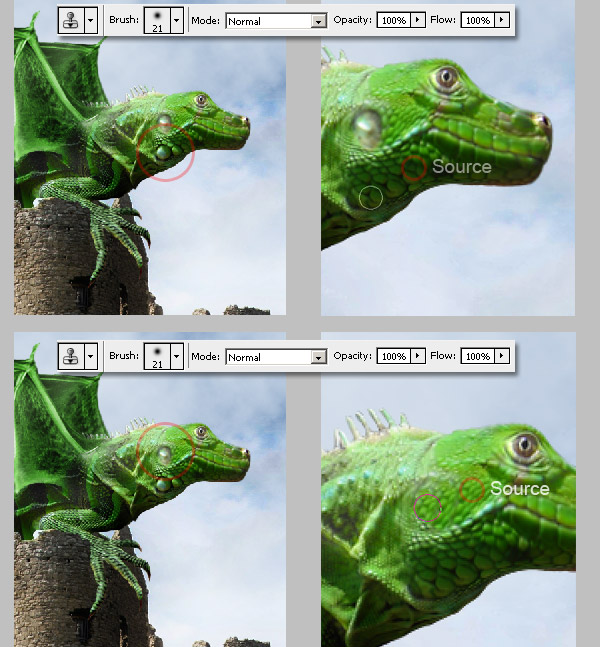 Photoshop图像合成实例:栩栩如生的翼龙_亿码酷站___亿码酷站平面设计教程插图13