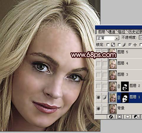 Photoshop为多斑的人像磨皮及美白_亿码酷站___亿码酷站平面设计教程插图2