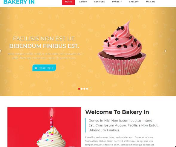 扁平化蛋糕甜品网站模板_帝国cms模板