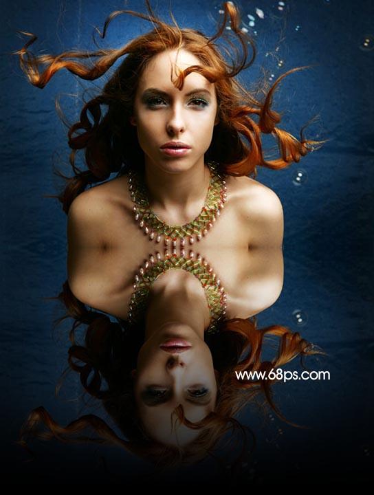 Photoshop制作逼真的水中倒影_亿码酷站___亿码酷站平面设计教程插图5