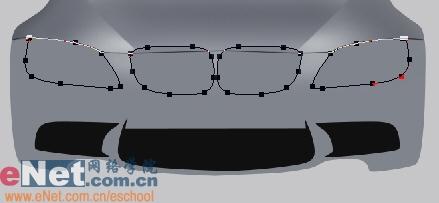 Photoshop鼠绘实例:宝马BMWM3_亿码酷站___亿码酷站平面设计教程插图4