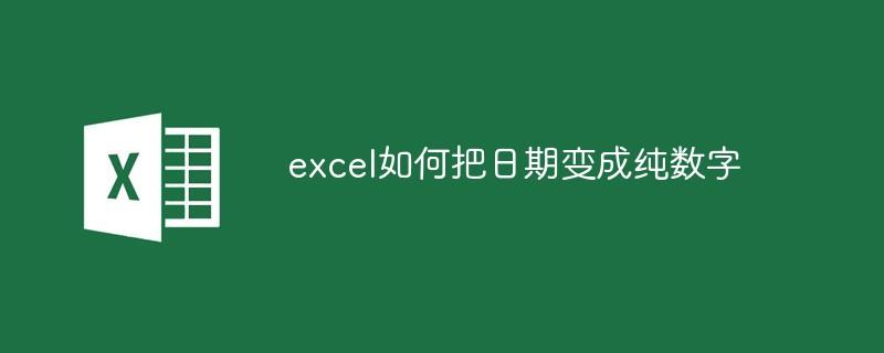 excel如何把日期变成纯数字_亿码酷站_编程开发技术教程