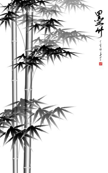 用PhotoShop画墨竹_亿码酷站___亿码酷站平面设计教程插图12