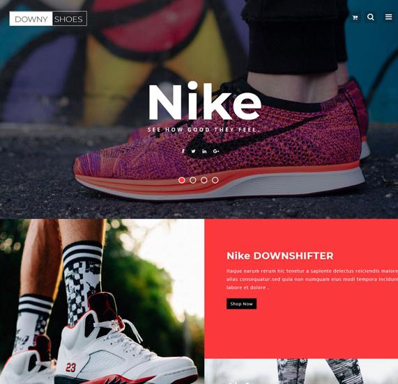 品牌运动鞋电商专题网站模板_html网站模板
