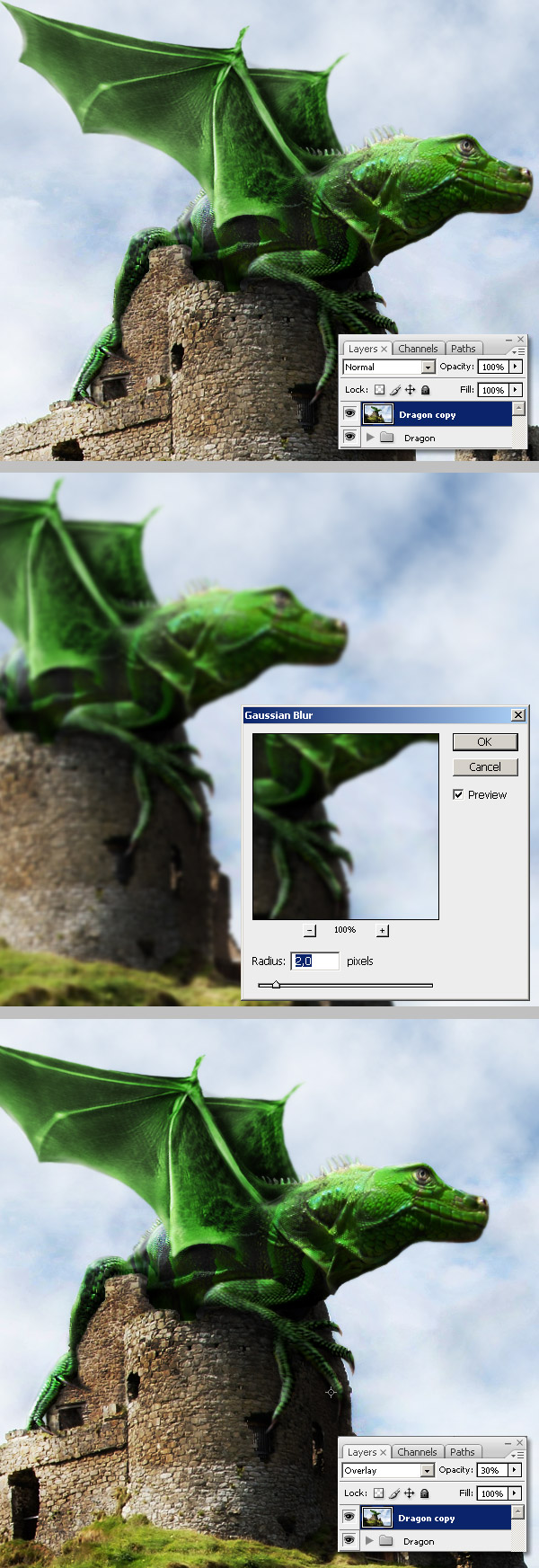Photoshop图像合成实例:栩栩如生的翼龙_亿码酷站___亿码酷站平面设计教程插图20