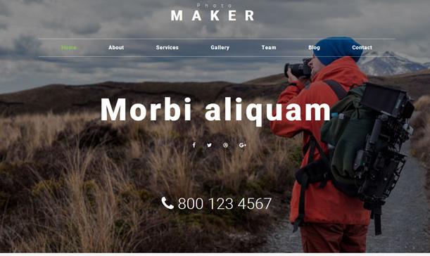 灰色照片制造商网站模板_html网站模板