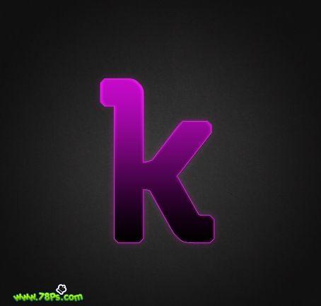Photoshop制作紫色发光字效果_亿码酷站___亿码酷站平面设计教程插图14