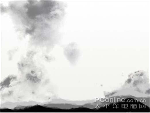 Photoshop制作一张水墨艺术画_亿码酷站___亿码酷站平面设计教程插图7