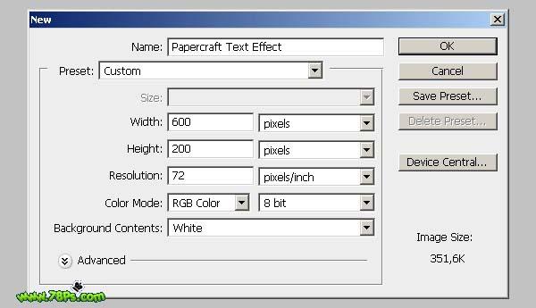 Photoshop制作剪纸字效果_亿码酷站___亿码酷站平面设计教程插图1