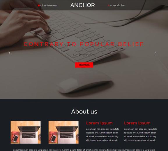 宽屏扁平化广告设计网站模板_html网站模板