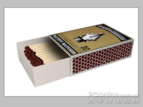 PS制作逼真的3D火柴盒_亿码酷站___亿码酷站平面设计教程插图12