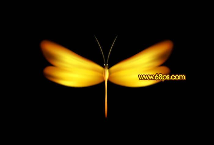 Photoshop打造一只漂亮的金色蜻蜓_亿码酷站___亿码酷站平面设计教程插图1