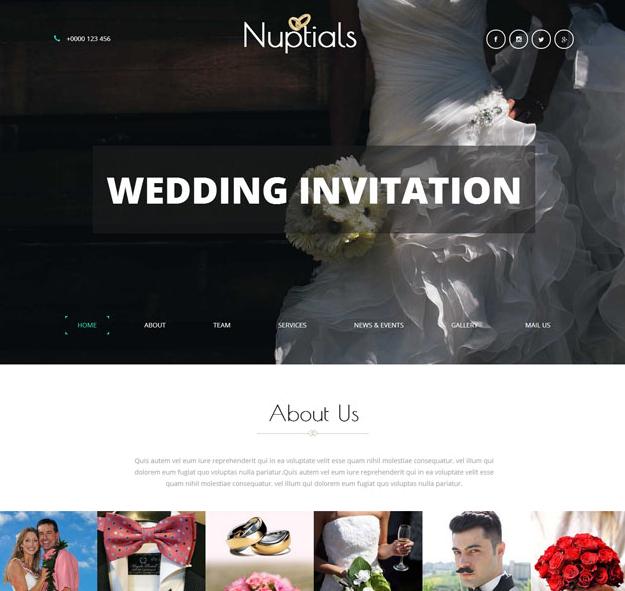 简洁白色婚礼现场网站_帝国cms模板