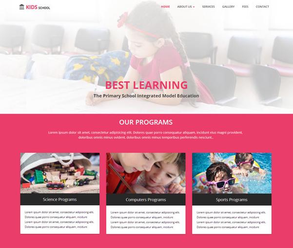 红色儿童教育品牌官网模板_php网站模板