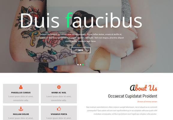 女性时尚纹身企业网站模板_php网站模板