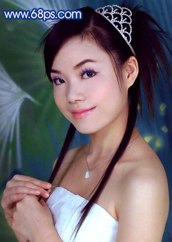 Photoshop调色教程:艳丽蓝色调的人物照片_亿码酷站___亿码酷站平面设计教程插图10