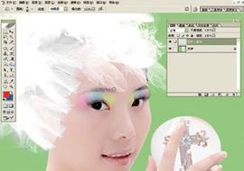 Photoshop给美女加上彩妆及头饰_亿码酷站___亿码酷站平面设计教程插图11
