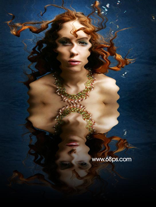 Photoshop制作逼真的水中倒影_亿码酷站___亿码酷站平面设计教程插图9