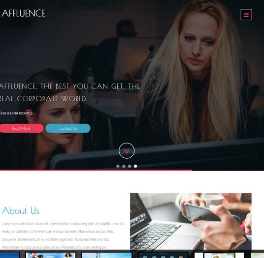 宽屏视差单页职场女性网站模板_帝国cms模板
