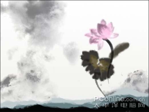 Photoshop制作一张水墨艺术画_亿码酷站___亿码酷站平面设计教程插图15